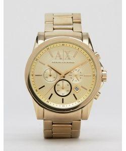 ARMANI EXCHANGE | Часы Золотого Цвета Из Нержавеющей Стали С Хронографом Ax2099