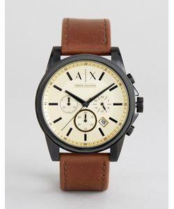 ARMANI EXCHANGE | Часы-Хронограф С Коричневым Кожаным Ремешком Ax2511
