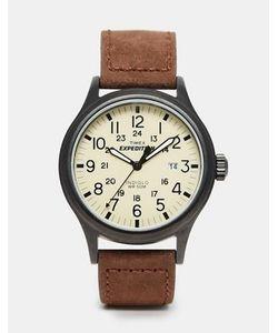 Timex | Часы С Замшевым Коричневым Ремешком Originals T49963