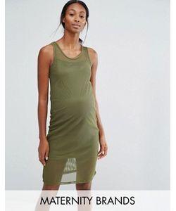Bluebelle Maternity | Облегающее Сетчатое Платье Для Дома Для Беременных