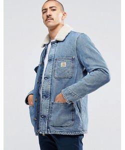 Carhartt WIP | Джинсовая Куртка С Воротником Из Искусственного Меха