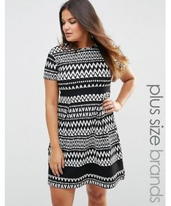 Praslin | Короткое Приталенное Платье С Черно-Белым Принтом Plus