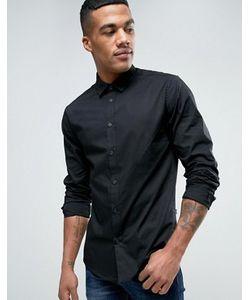 Solid | Черная Рубашка Классического Кроя