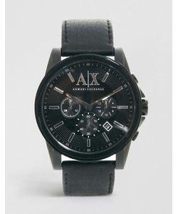 ARMANI EXCHANGE   Часы С Хронографом И Ремешком Из Черной Кожи Ax2098