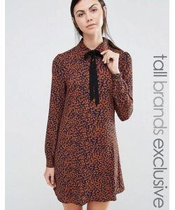Fashion Union Tall | Платье С Леопардовым Принтом И Лентой На Вороте