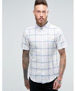 Farah | Рубашка Слим В Клетку С Короткими Рукавами