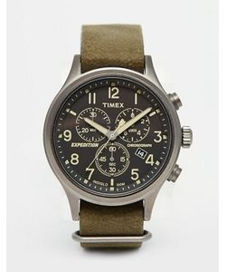 Timex | Зеленые Часы-Хронограф Expedition Scout Tw4b04100