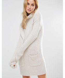 Fashion Union | Платье Из Мягкого Трикотажа С Отворачивающимся Воротом