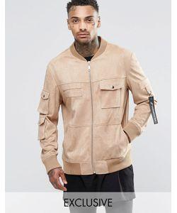 Underated | Куртка В Стиле Милитари Из Искусственной Замши