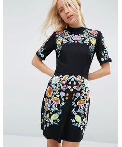 Asos | Платье Мини С Вышивкой Premium