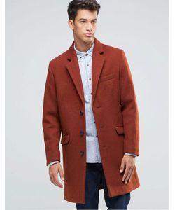 Asos | Красно-Бурое Шерстяное Пальто