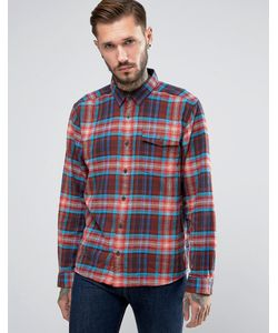Patagonia   Shirt In Check Flannel Regular Fit Red
