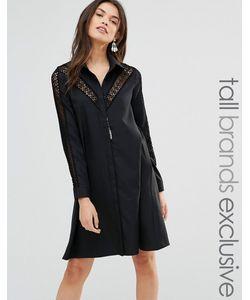 Glamorous Tall | Платье С Кружевной Вставкой