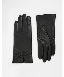 Totes | Кожаные Перчатки Со Стегаными Манжетами