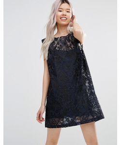 Ganni | Кружевное Цельнокройное Платье City Hall Dress Blues
