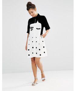 The WhitePepper | Платье-Рубашка С Бархатной Отделкой