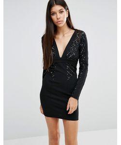 NaaNaa | Sequin Mesh Bodycon Dress