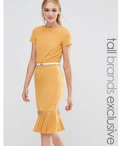 Paper Dolls Tall | Pencil Dress With Pleated Hem