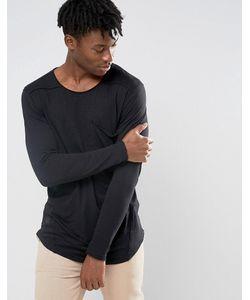 BLACK KAVIAR | Удлиненный Лонгслив С Большим Карманом