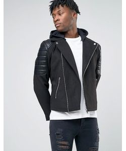 BL7CK | Biker Jacket In Leather Look