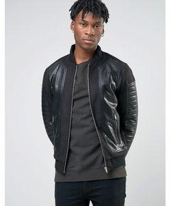 BL7CK | Байкерская Куртка-Пилот Из Искусственной Кожи