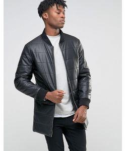 BL7CK | Длинная Дутая Куртка Из Искусственной Кожи