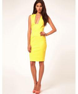Hybrid | Платье-Футляр С Глубоким Вырезом