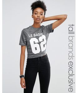 Noisy May Tall | Metallic Motif Crop T-Shirt