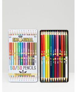 NPW | Набор Цветных Карандашей Со Смайликами Emoji 50/50