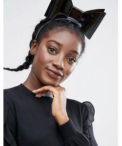 Monki   Large Patent Bow Headband