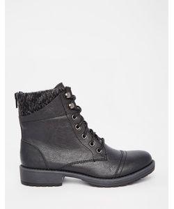 Head Over Heels | Байкерские Ботинки С Вязаным Манжетом By Dune Parkers