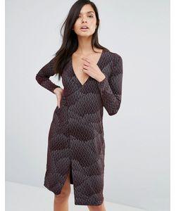 Vesper | Платье С Запахом И Принтом