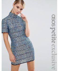 ASOS PETITE | Цельнокройное Платье С Высоким Воротом И Отделкой