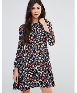 Yumi   Платье-Трапеция С Цветочным Рисунком