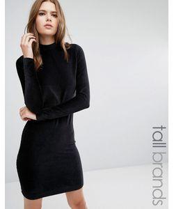 Vero Moda Tall | Облегающее Платье Из Вельвета С Высокой Горловиной