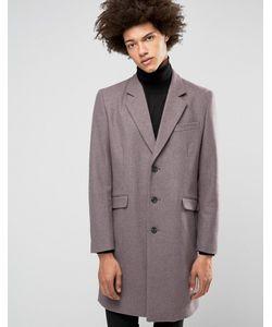 Asos | Меланжевое Пальто Из Шерстяной Смеси