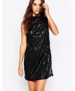 Motel | Цельнокройное Платье С Отделкой Пайетками Radella
