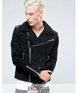 Black Dust | Кожаная Байкерская Куртка С Воротником Борг