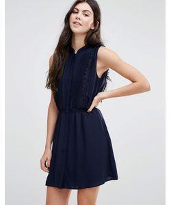 Greylin | Gianna Fringe Trim Shirt Dress