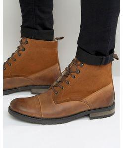 Asos | Кожаные Ботинки На Шнуровке И Меховой Подкладке