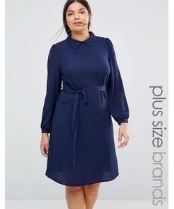 Koko | Цельнокройное Платье С Кружевным Воротником Plus