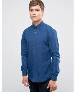Calvin Klein   Облегающая Рубашка Из Денима