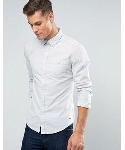 Esprit | Узкая Меланжевая Рубашка На Пуговицах