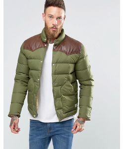 Penfield | Стеганая Куртка С Кожаной Кокеткой Pelam