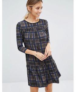 Closet London   Клетчатое Платье С Длинными Рукавами И Баской По Краю Closet