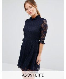 ASOS PETITE | Кружевное Короткое Приталенное Платье