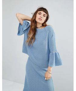 Rokoko | Knitted Jumper With Peplum Hem Co-Ord