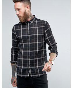 Hoxton Shirt Company | Рубашка Узкого Кроя В Клетку