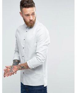 Hoxton Shirt Company | Рубашка Узкого Кроя С Ровным Низом
