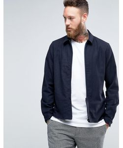 Hoxton Shirt Company | Куртка Узкого Кроя На Молнии